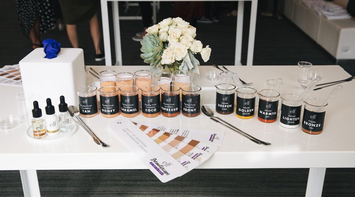 e.l.f. cosmetics makeup formulation set