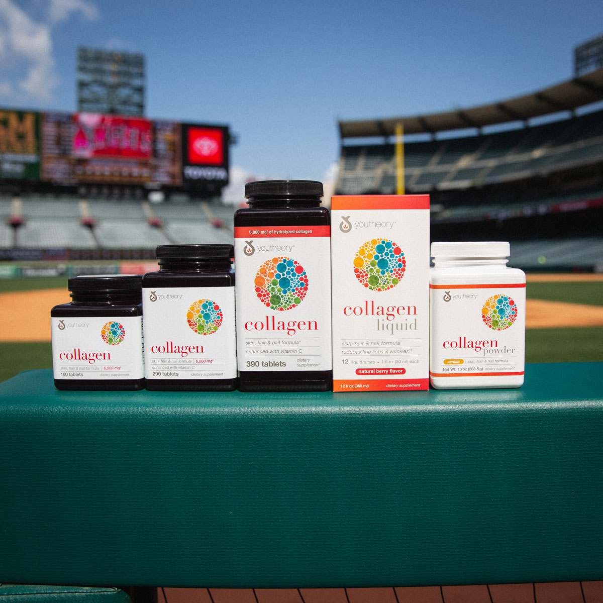 Youtheory supplements at Angels Stadium