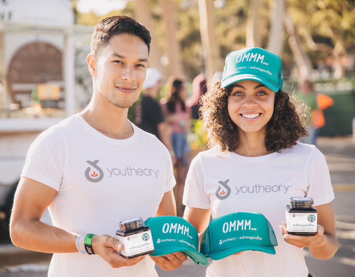 Smiling Youtheory Brand Ambassadors with ashwagandha