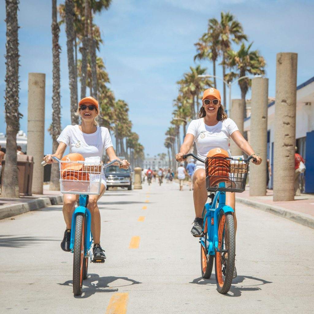 Brand Ambassadors on beach cruisers